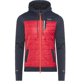 PEARL iZUMi Versa Quilted Hoodie Men Eclipse Blue/Rogue Red